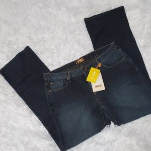 BITTEN SJP DARK WASH BOOT CUT JEANS!